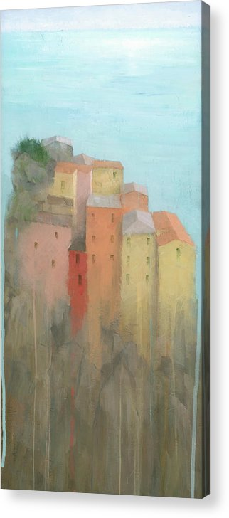 Art Acrylic Print featuring the painting Cinque Terre by Steve Mitchell