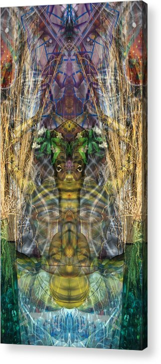 Geometry Acrylic Print featuring the painting Geometry by Leigh Odom