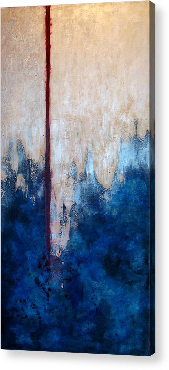 Abstract Acrylic Print featuring the painting Prayer for Joshua by Teresa Carter