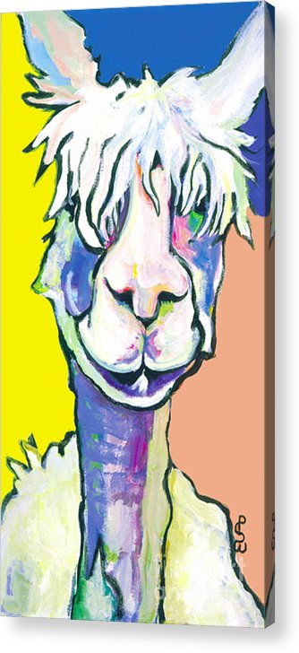 Mountain Animal Acrylic Print featuring the painting Veronica by Pat Saunders-White