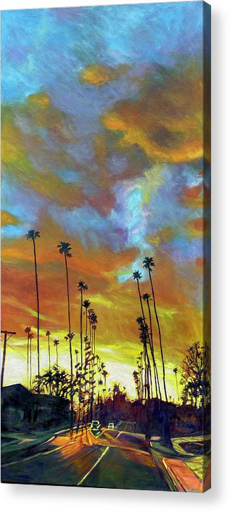 Twilight Acrylic Print featuring the painting The Whole Picture by Bonnie Lambert
