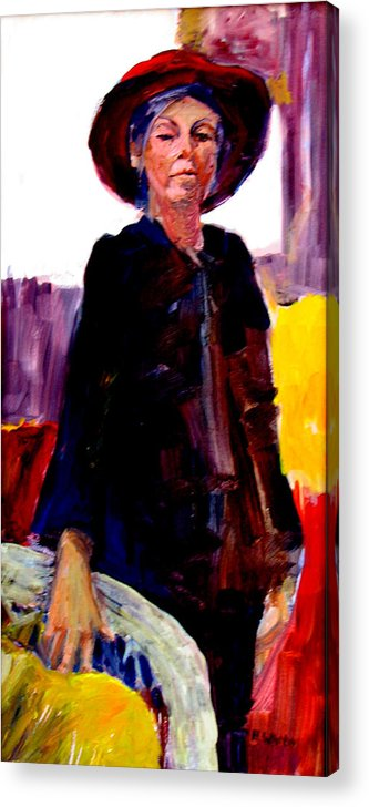 Figure Acrylic Print featuring the painting The Journey by Pat White