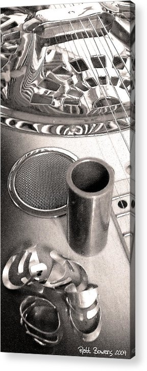 Dobro Acrylic Print featuring the photograph Tools Of The Trade 3 by Everett Bowers