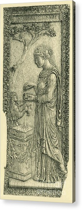 Engraving Acrylic Print featuring the drawing The Symmachi Panel by Print Collector