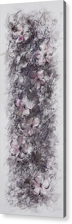 Floral Acrylic Print featuring the painting floral cascade II by William Russell Nowicki