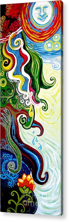 Mother Earth Acrylic Print featuring the painting Earths Tears by Genevieve Esson