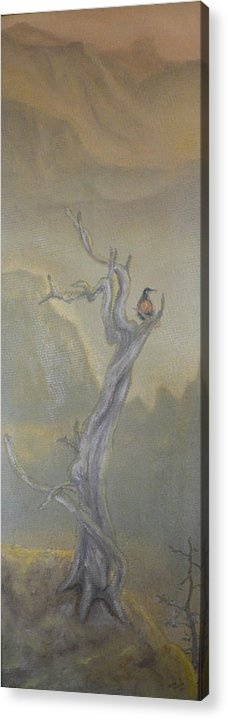 Bird Acrylic Print featuring the painting Lone Sentinel by Dan Bozich
