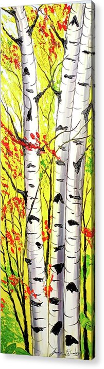 Acrylic Print featuring the painting Yellow Autumn by Dunbar's Local Art Boutique