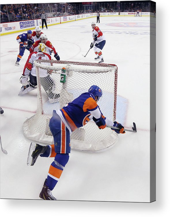 Playoffs Acrylic Print featuring the photograph Florida Panthers V New York Islanders - by Bruce Bennett