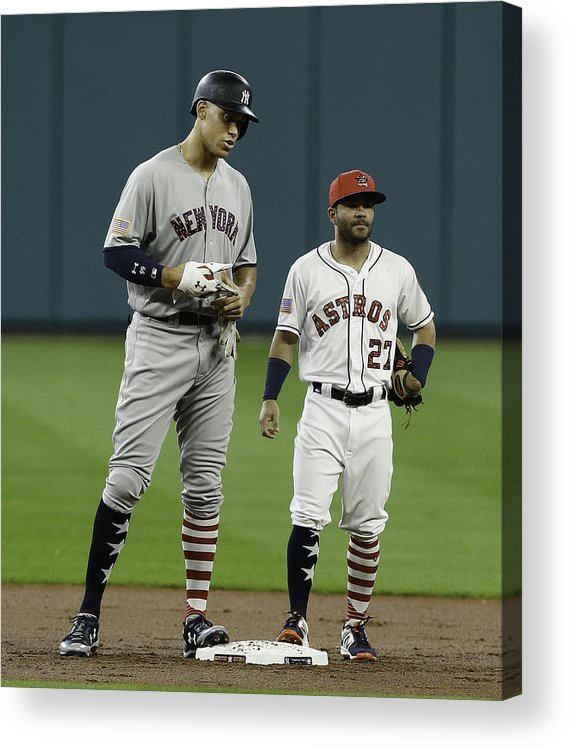 People Acrylic Print featuring the photograph New York Yankees v Houston Astros by Bob Levey