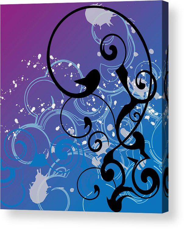 Abstract Acrylic Print featuring the digital art Abstract Swirl by Mellisa Ward