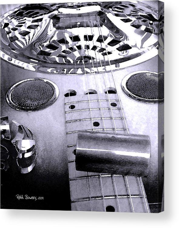 Dobro Acrylic Print featuring the photograph Blue Dobro by Everett Bowers