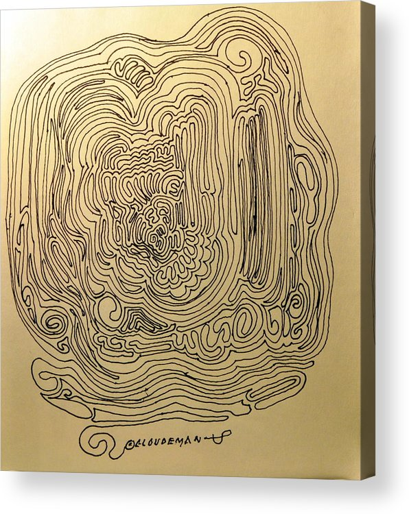Nonobjective Acrylic Print featuring the drawing Just More Lines by Denis Gloudeman