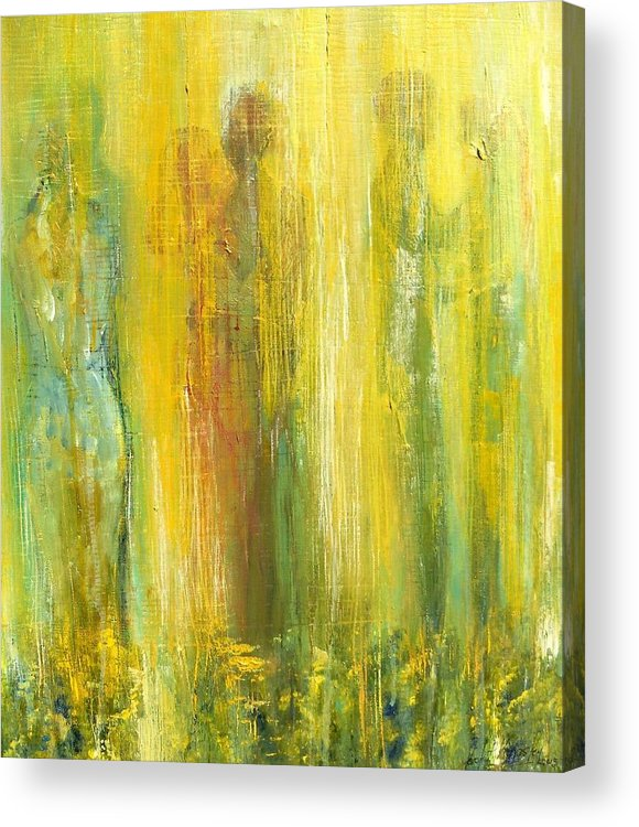 In Focus Acrylic Print featuring the painting Love in Yellow by Carol P Kingsley
