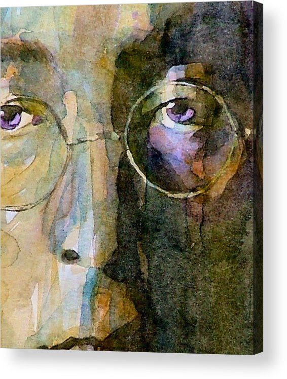 John Lennon Acrylic Print featuring the painting Nothin Gonna Change My World by Paul Lovering
