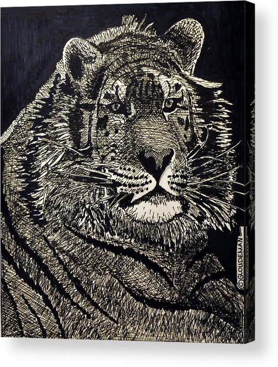 Acrylic Print featuring the drawing Reagle by Denis Gloudeman