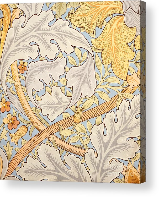 St James Acrylic Print featuring the painting St James Wallpaper Design by William Morris