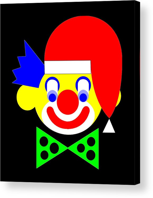 The Circus Clown Wishes You A Merry Christmas Acrylic Print featuring the digital art The Circus Clown wishes you a Merry Christmas by Asbjorn Lonvig