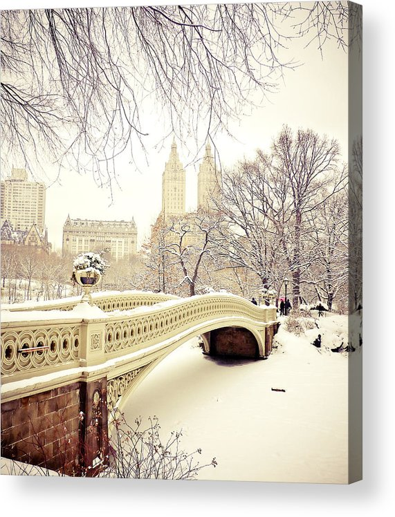 Nyc Acrylic Print featuring the photograph Winter - New York City - Central Park by Vivienne Gucwa