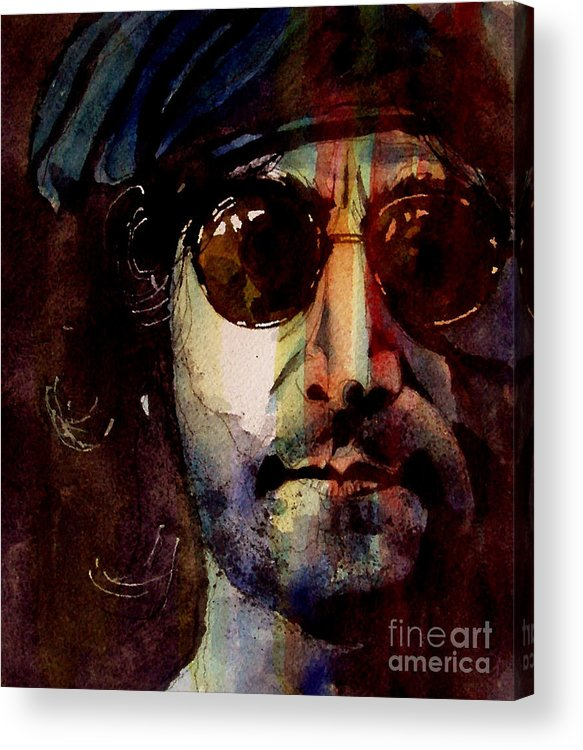 John Lennon Acrylic Print featuring the painting Working Class Hero by Paul Lovering