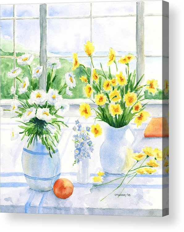 Flowers Acrylic Print featuring the painting Summer Light by Susan Mahoney