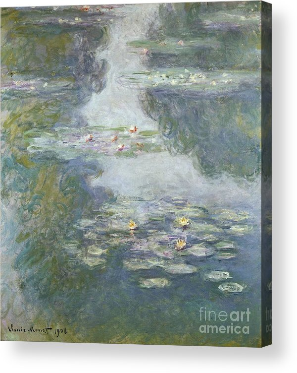 Pads Acrylic Print featuring the painting Waterlilies by Claude Monet