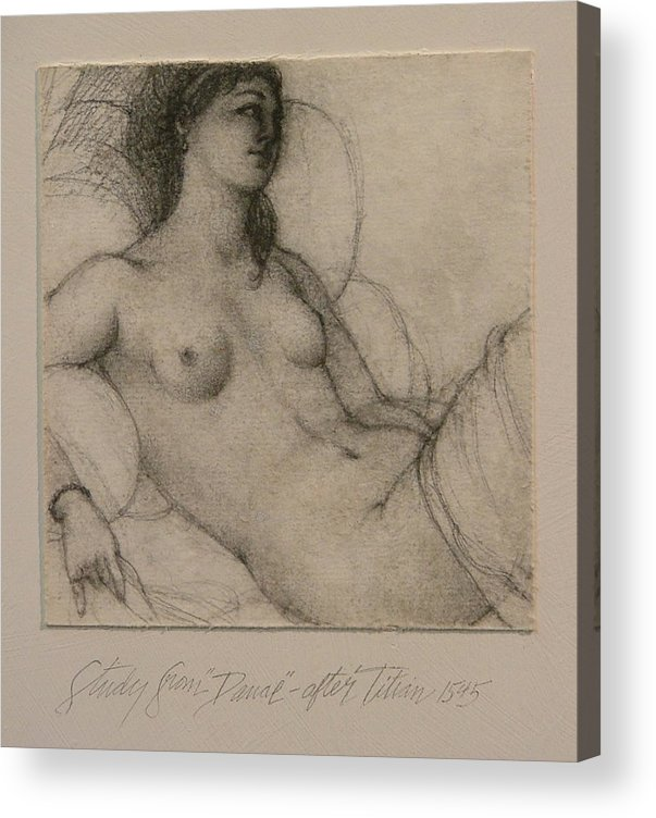 Titian Acrylic Print featuring the painting After Titian by Gary Kaemmer