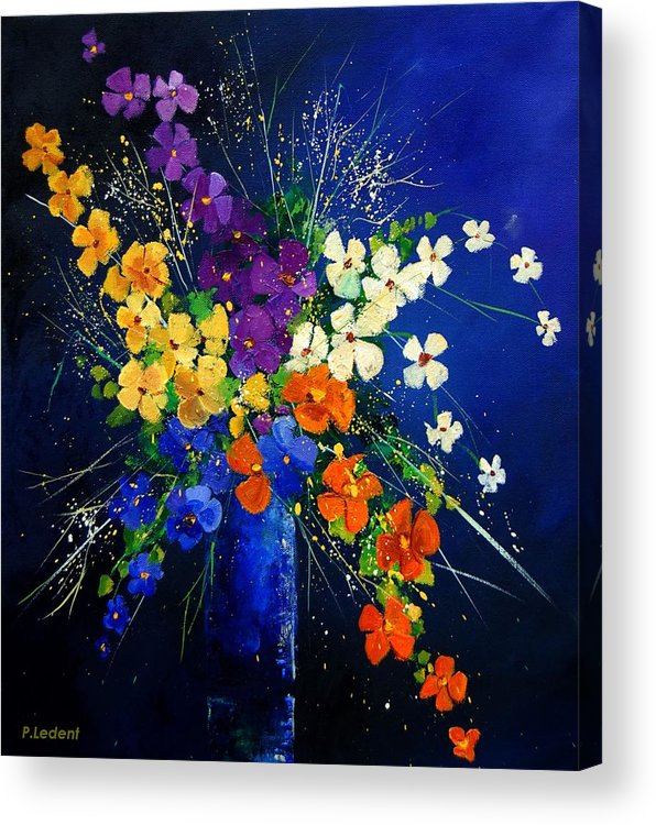 Poppies Acrylic Print featuring the print Bunch 0408 by Pol Ledent