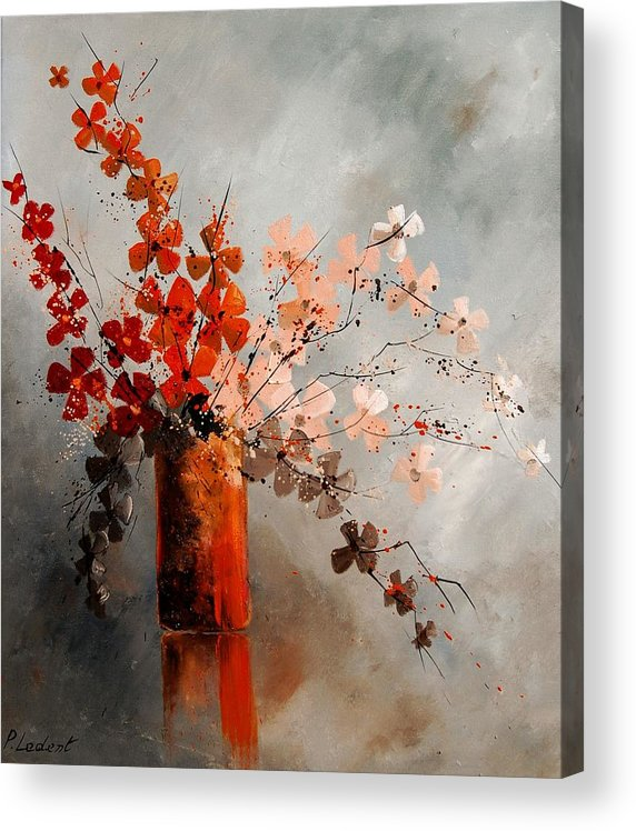 Flowers Acrylic Print featuring the painting Bunch 670908 by Pol Ledent
