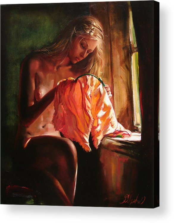 Ignatenko Acrylic Print featuring the painting Cinderella by Sergey Ignatenko