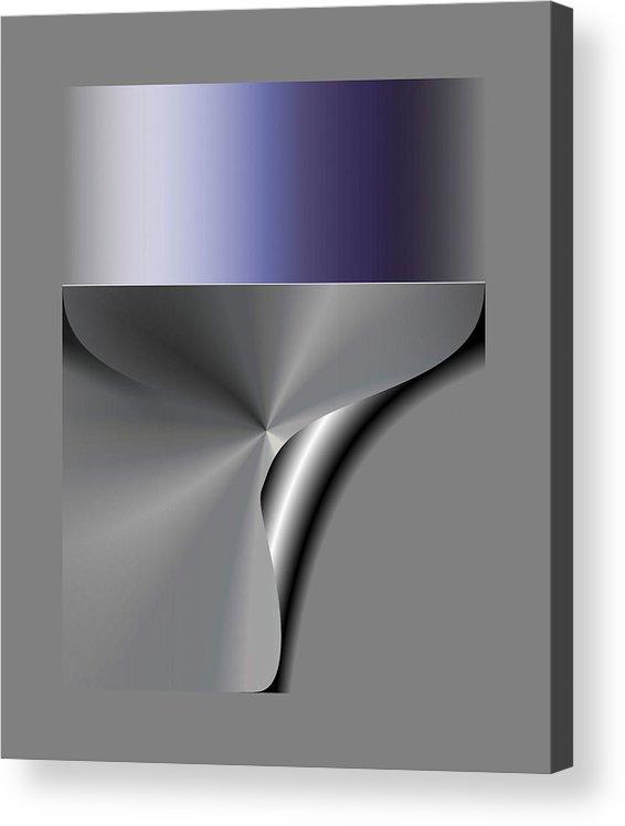 Digital Acrylic Print featuring the digital art Digital Abstract 4 by Ilona Burchard