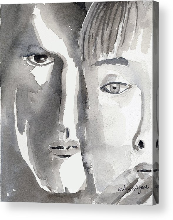 Faces Acrylic Print featuring the painting Faces by Arline Wagner