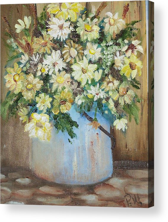 Flowers Acrylic Print featuring the painting Flowers by Pamela Wilson