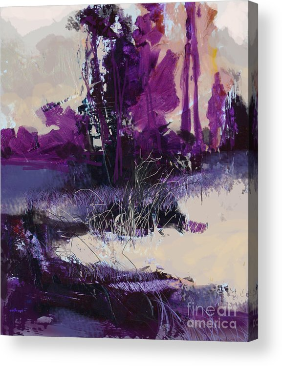 Landscape Acrylic Print featuring the painting Forest Sketch 1A by Dale Witherow