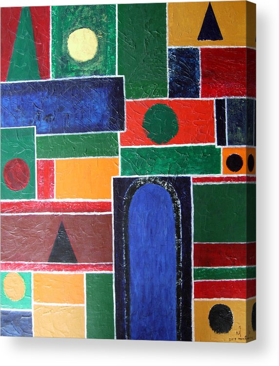 Abstract Acrylic Print featuring the painting K 1 by Vijayan Kannampilly