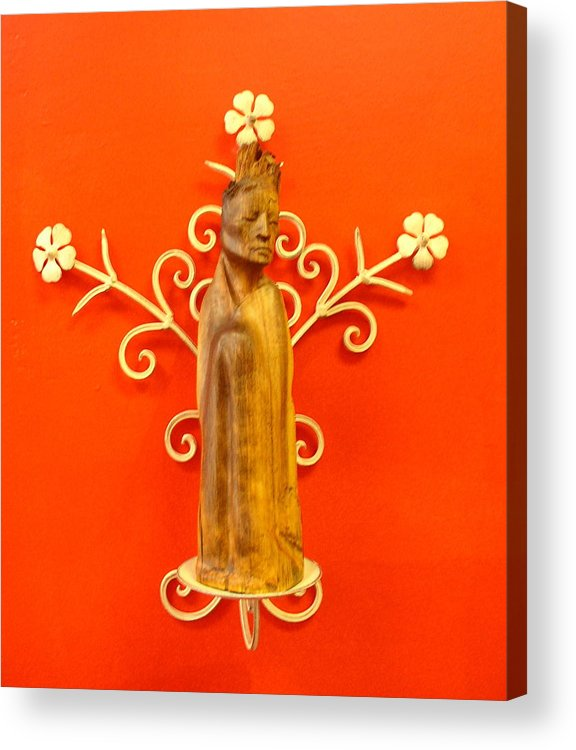 Figure Acrylic Print featuring the sculpture King by Victor Amor