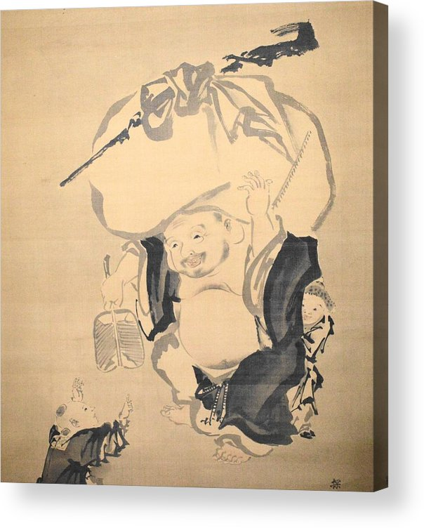 Love Acrylic Print featuring the drawing Lucky Gods HOTEI by Keisuke Ueda