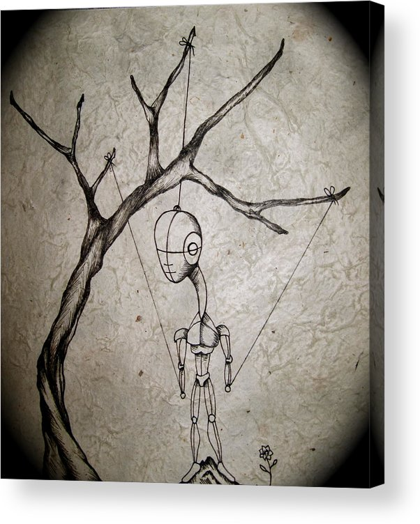 Drawings Acrylic Print featuring the painting Mister by Jeff DOttavio