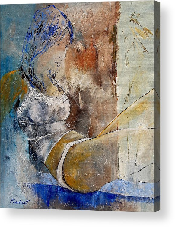 Nude Acrylic Print featuring the painting Nude 67524236 by Pol Ledent