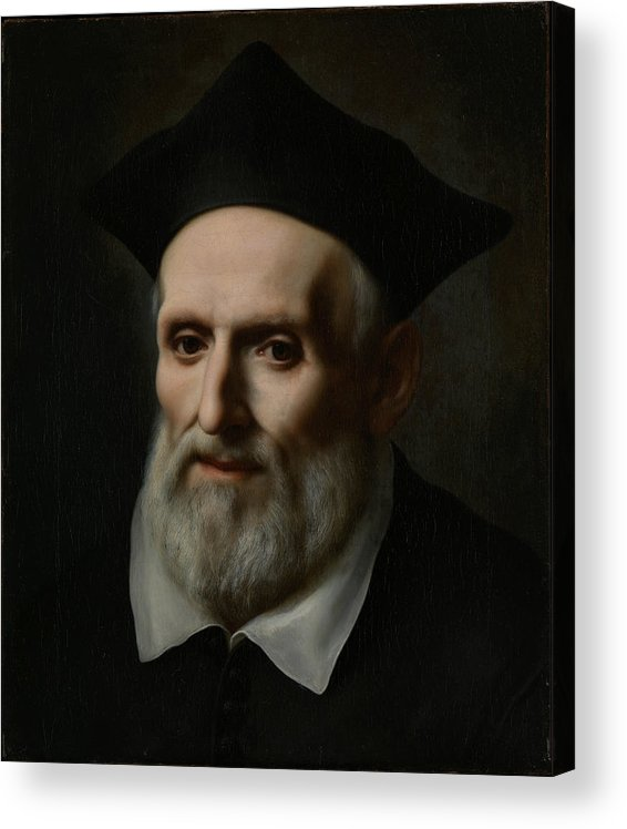 17th Century Art Acrylic Print featuring the painting Saint Philip Neri by Carlo Dolci