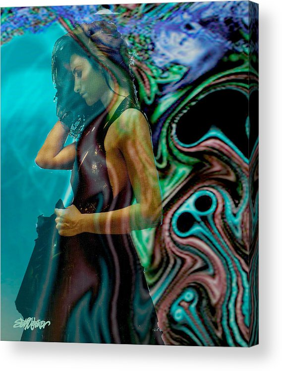 Beautiful Women Acrylic Print featuring the digital art Spell of a Woman by Seth Weaver