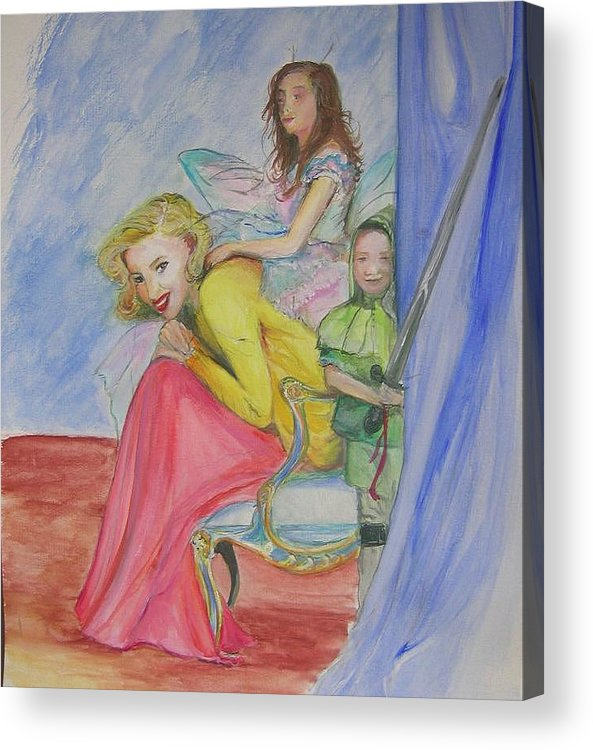 Acrylic Print featuring the painting Way Past Bedtime 2 by Lizzy Forrester