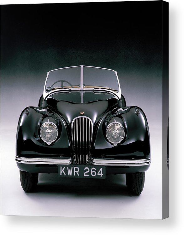 Aerodynamic Acrylic Print featuring the photograph 1950 Jaguar Xk 120 by Heritage Images
