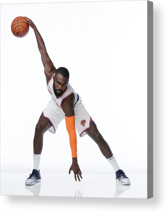 Media Day Acrylic Print featuring the photograph 2017-18 New York Knicks Media Day by Steven Freeman