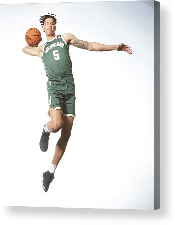 Nba Pro Basketball Acrylic Print featuring the photograph Rookie Photo Shoot 2017 by Nathaniel S. Butler