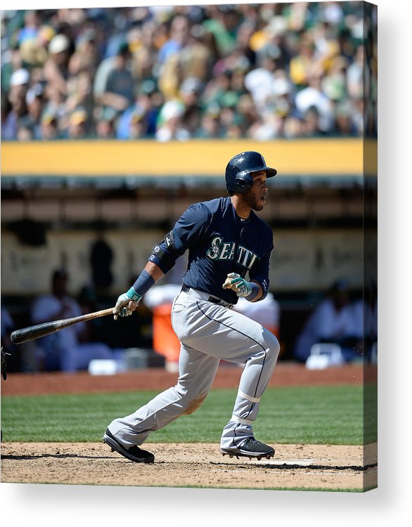 American League Baseball Acrylic Print featuring the photograph Seattle Mariners V Oakland Athletics by Thearon W. Henderson