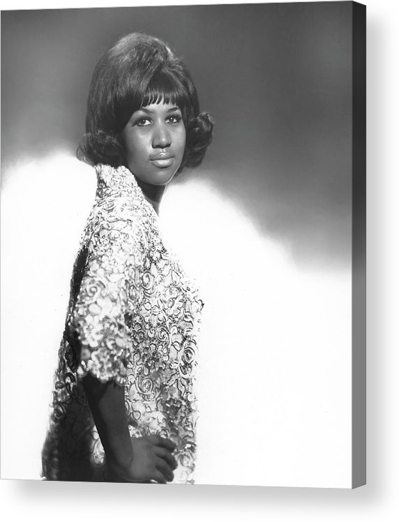 Singer Acrylic Print featuring the photograph Aretha Franklin Portrait by Michael Ochs Archives