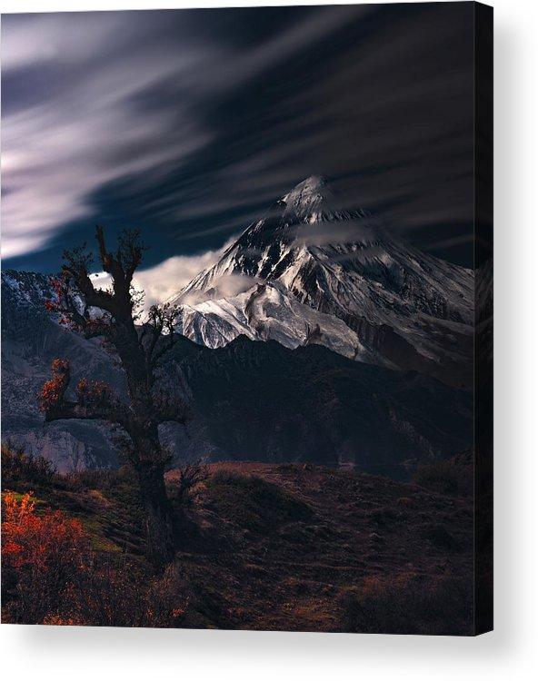 Damavand Acrylic Print featuring the photograph Autumn & Mount Damavand by Majid Behzad -
