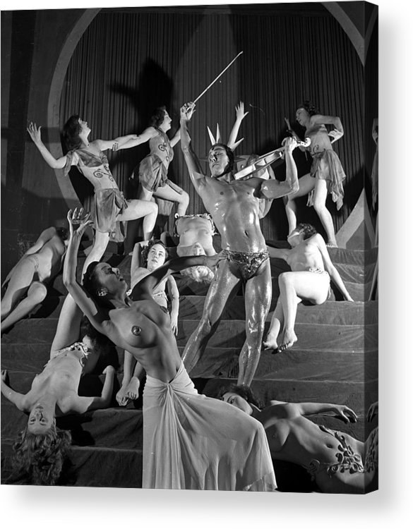 Music Acrylic Print featuring the photograph England. 1949. French Dance Troupe Les by Popperfoto