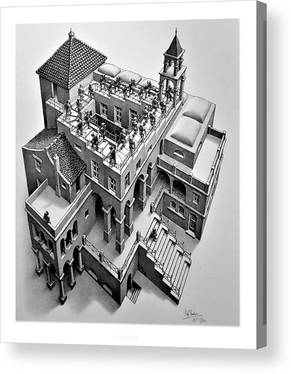 Maurits Cornelis Escher Acrylic Print featuring the photograph Escher 129 by Rob Hans
